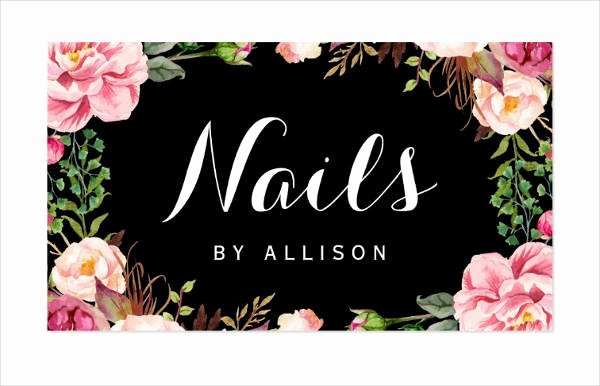 Nails Business Cards Design New Business Cards for Nail Technicians