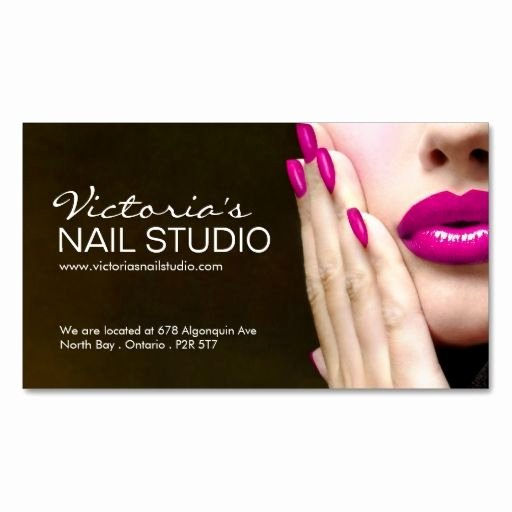 Nails Business Cards Design New Nail Technician Business Card Template Zazzle