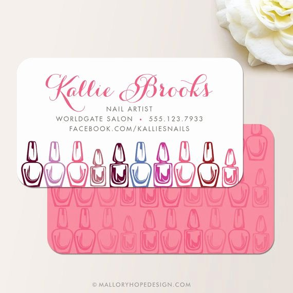 Nails Business Cards Design Unique Manicurist Business Card Calling Card Mommy Card Contact Card Nail Technician Nail
