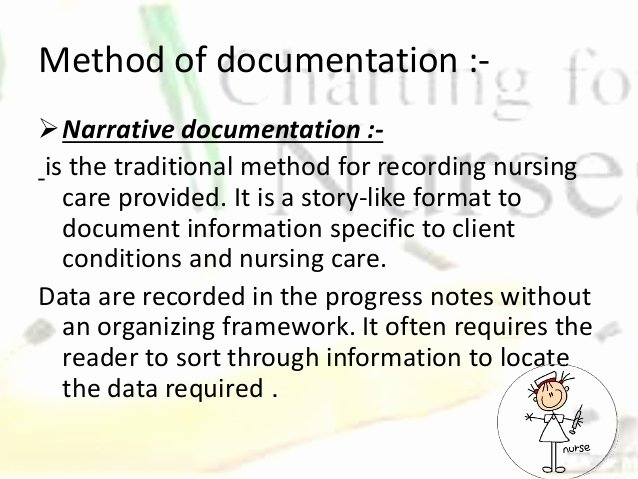 Narrative Nursing Notes Examples Beautiful Methods Of Nursing Documentation Final