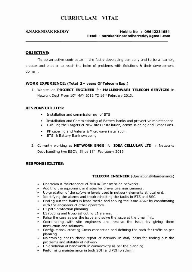 Network Engineer Resume Example Luxury Surukanti Narendar Reddy Network Engineer Resume