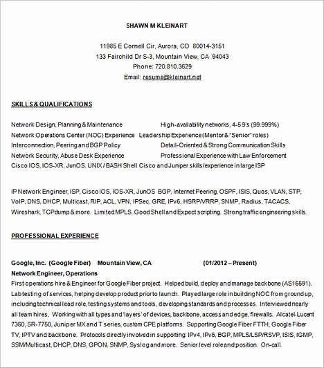 Network Engineer Resume Sample Beautiful Emphasize Your Skills In Your Network Engineer Resume