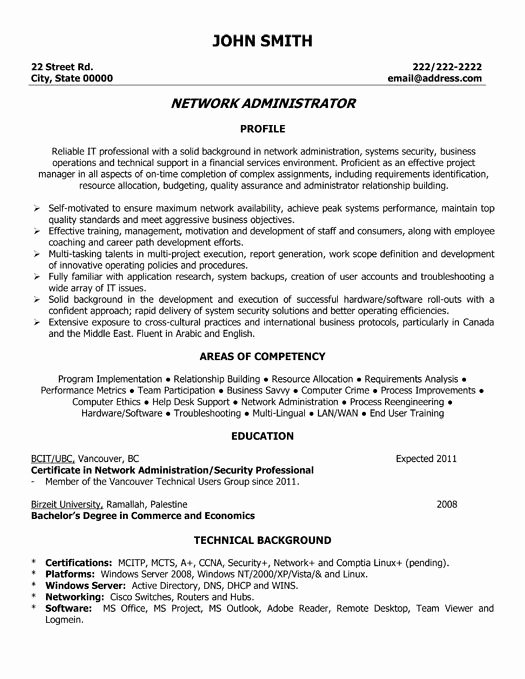 Network Engineer Resume Sample Luxury 9 Best Best Network Engineer Resume Templates & Samples