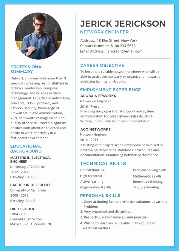 Network Engineer Resume Sample New Network Engineer Resume Template – 9 Free Word Excel