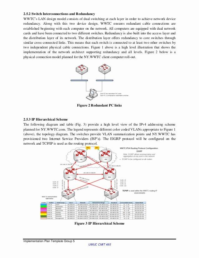 Network Implementation Plan Example Elegant Wwtc Implementation Plan Group5 Final