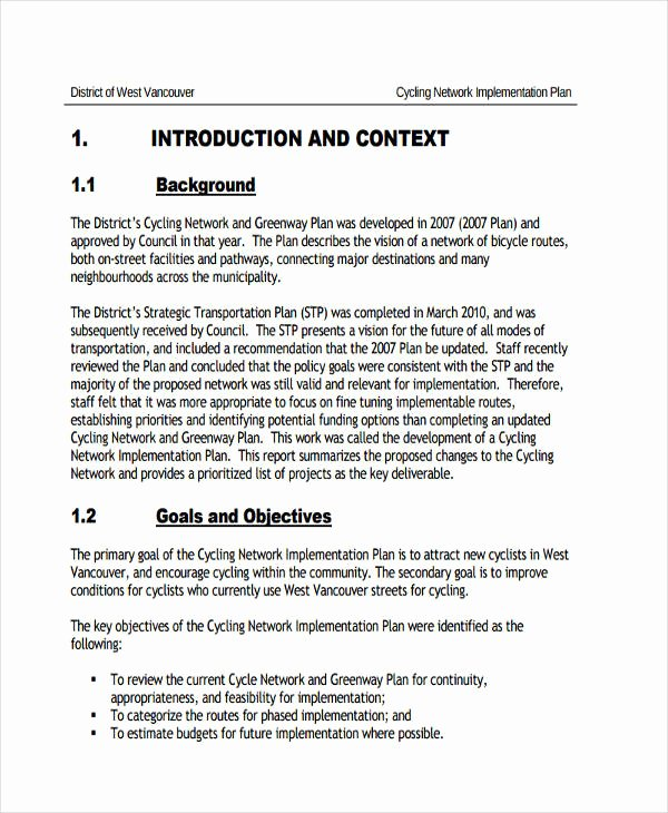 Network Implementation Plan Example New Free 47 Implementation Plan Examples & Samples In Pdf Doc Google Docs Word Pages