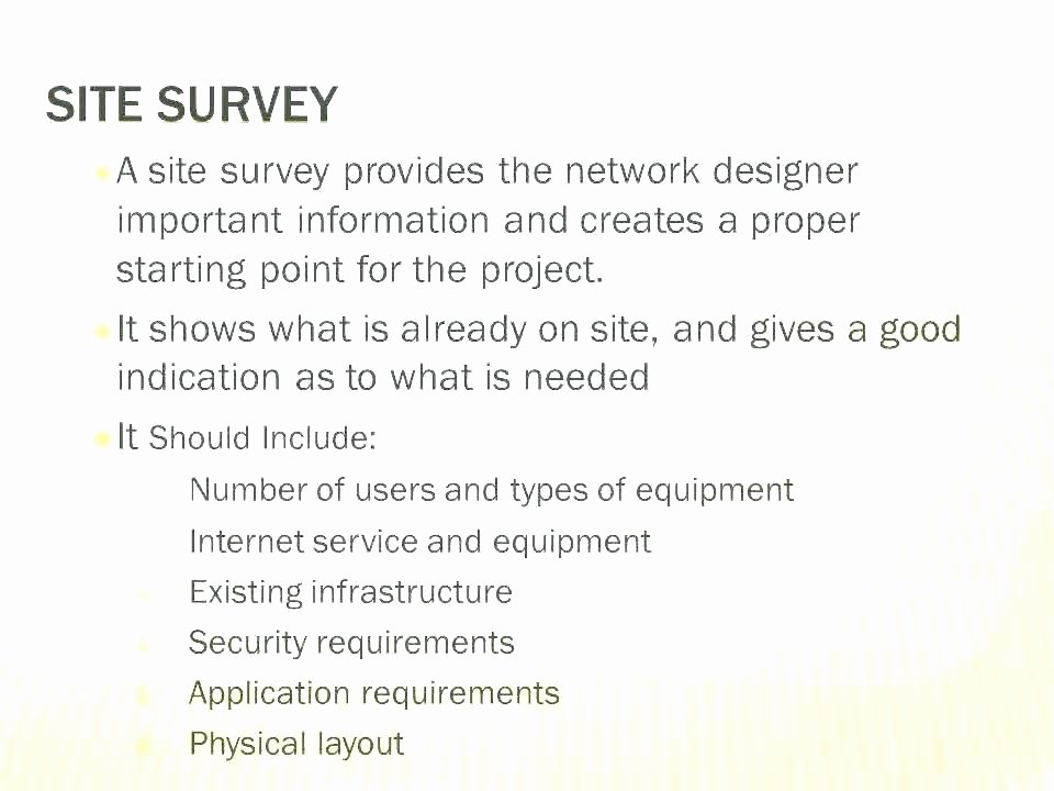 Network Site Survey Template Elegant It Site Survey Template