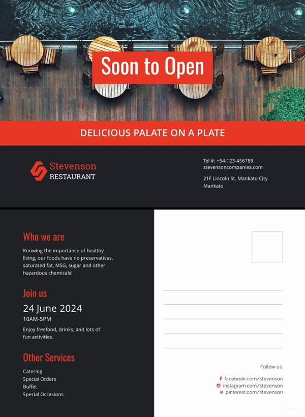 New Business Announcement Template Best Of Postcard Template 47 Free Printable Word Excel Pdf Psd Publisher Indesign format