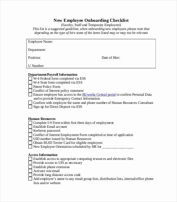 New Employee Checklist Template Excel Elegant Boarding Checklist Template 17 Free Word Excel Pdf Documents Download