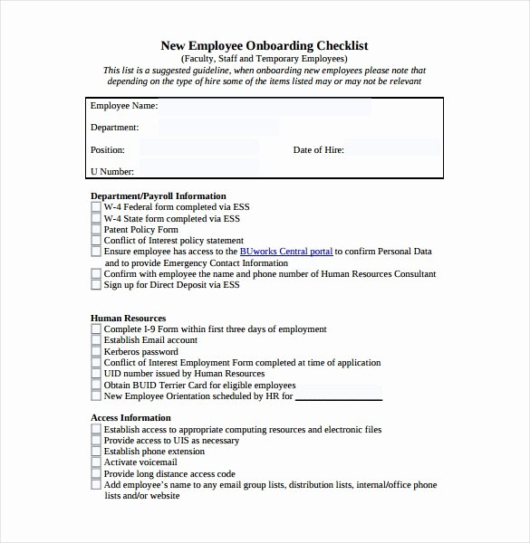 New Employee Checklist Template Excel Elegant Checklist Template – 38 Free Word Excel Pdf Documents Download