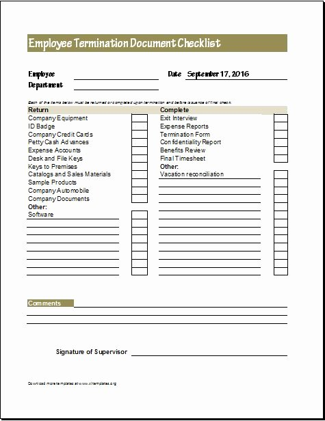 New Employee Checklist Template Excel Elegant Document Checklists for New & Terminated Employee