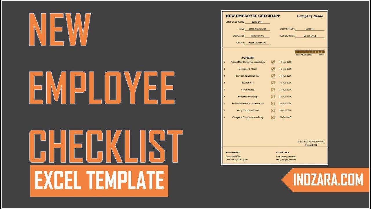 New Employee Checklist Template Excel Luxury New Employee Checklist Free Excel Template tour