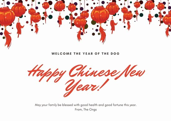 New Year Card Template Awesome Customize 917 Chinese New Year Card Templates Online Canva