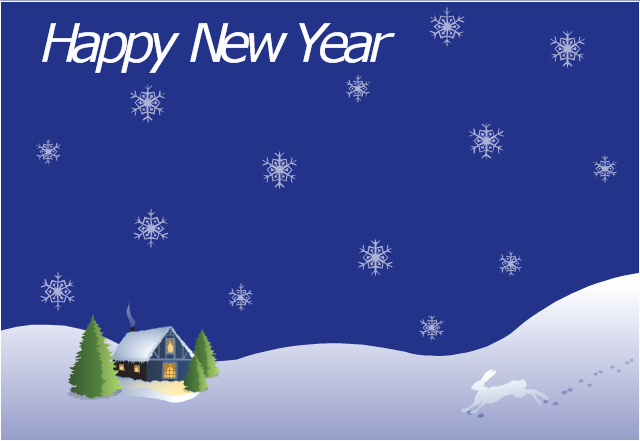 New Year Card Template Elegant New Year Card House Covered with Snow Template