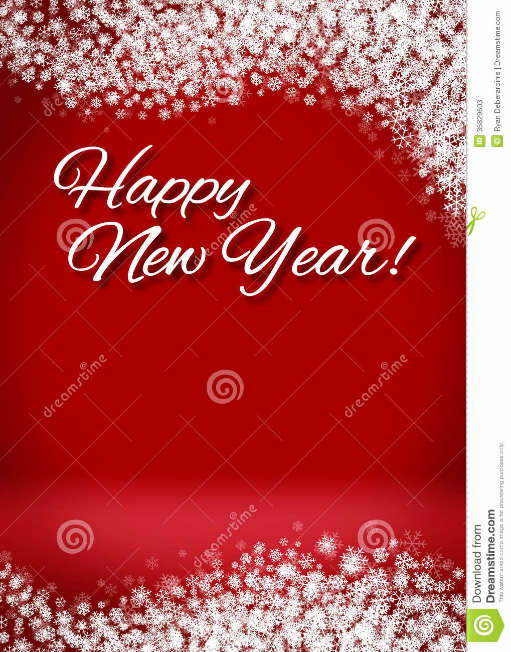 New Year Card Template Fresh Snowy Happy New Year 3d Card Background Stock S Image