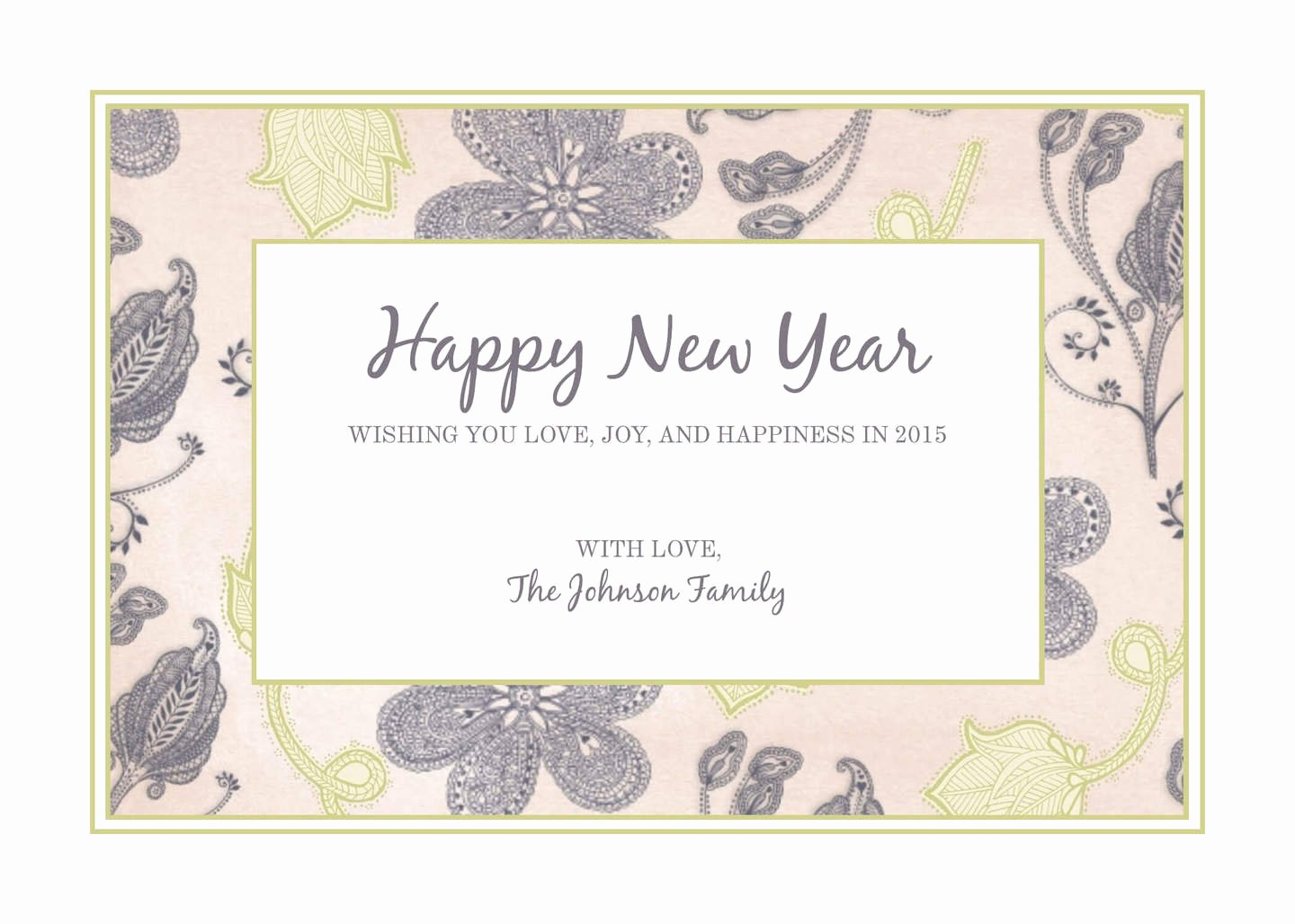 New Year Card Template Inspirational Free New Year Templates & Examples Lucidpress