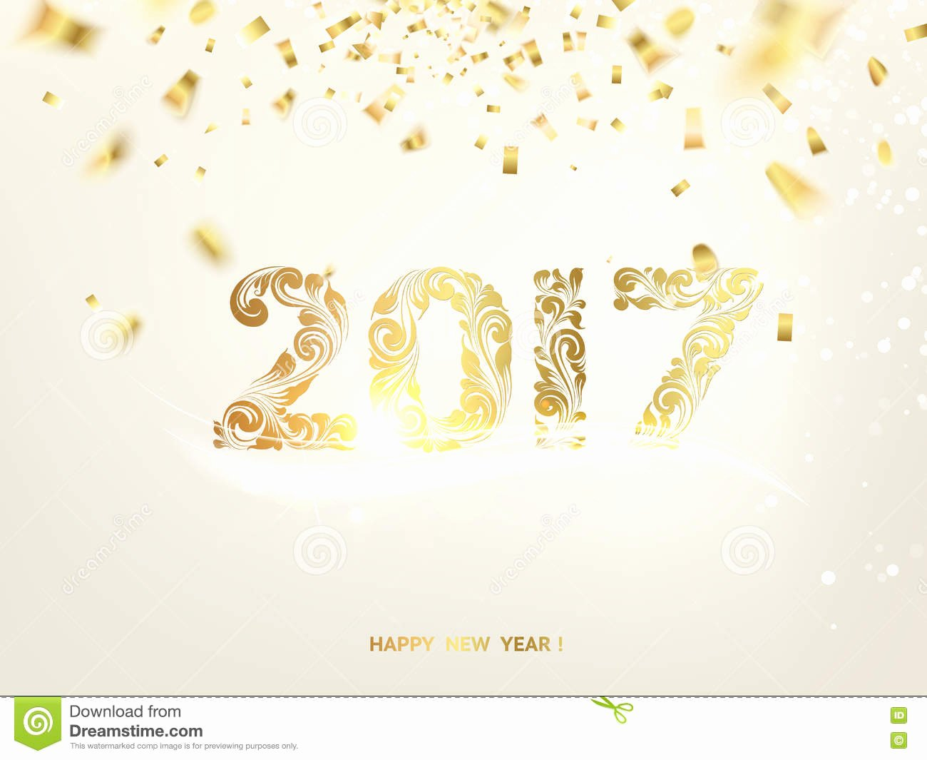 New Year Card Template Lovely Happy New Year 2017 Stock Vector Image Of Glowing Season