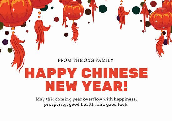 New Year Card Template Luxury Customize 917 Chinese New Year Card Templates Online Canva