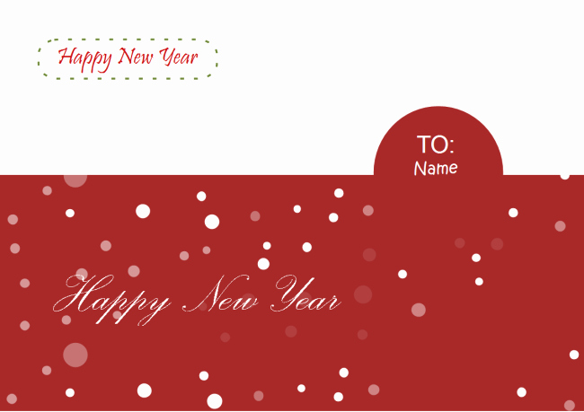 New Year Card Template New New Year Card