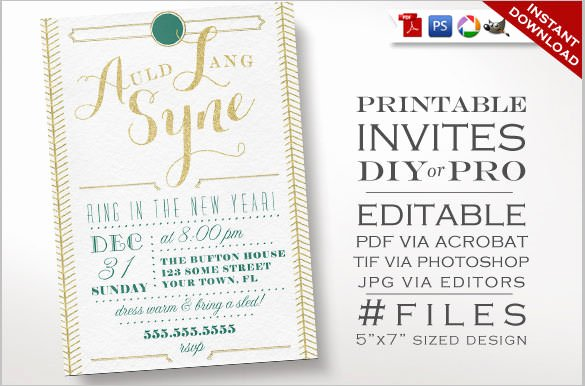 New Years Eve Invitation Templates Awesome 28 New Year Invitation Templates – Free Word Pdf Psd Eps Indesign format Download