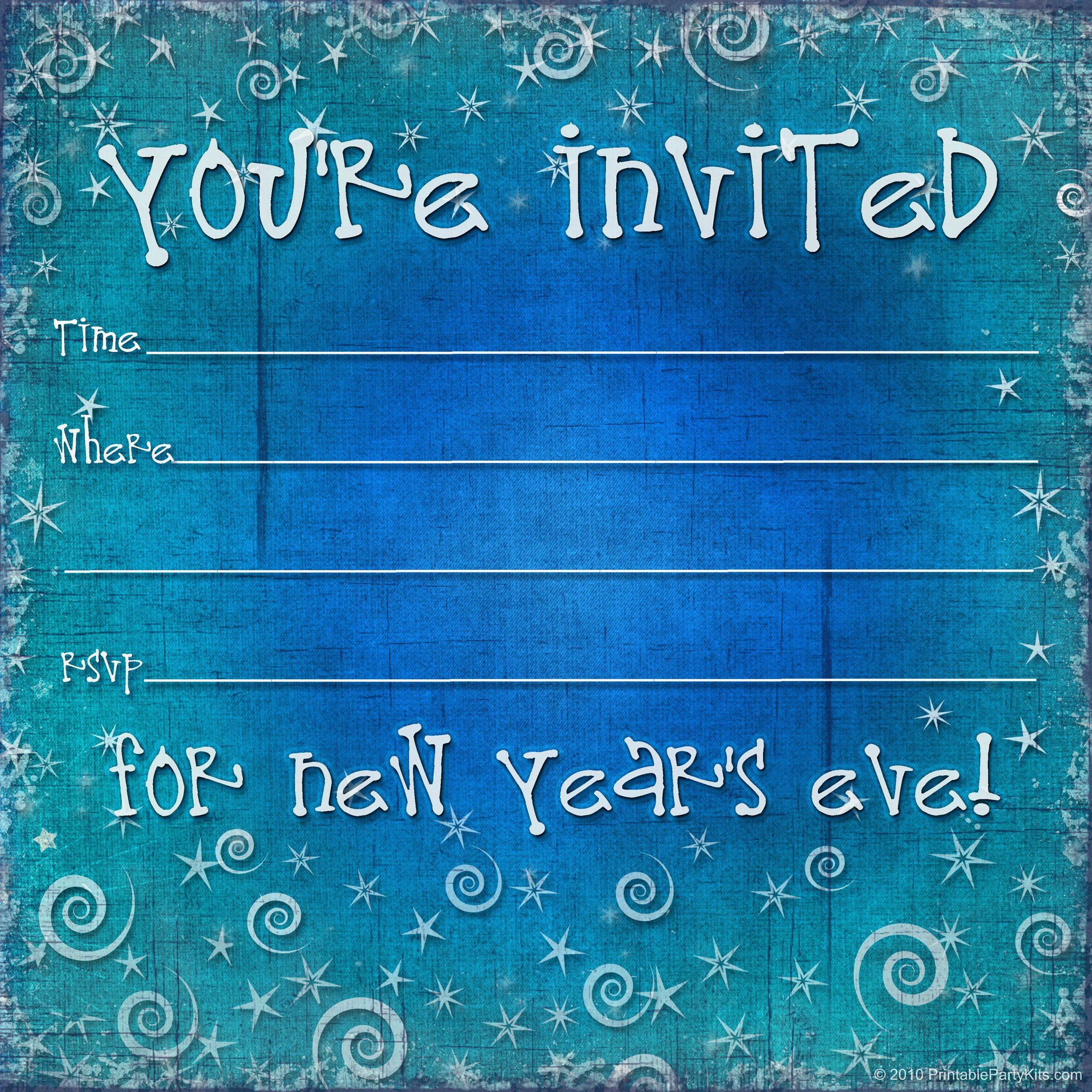 New Years Eve Invitation Templates Awesome Free Printable New Years Eve Party Invitation Template Printable Party Kits