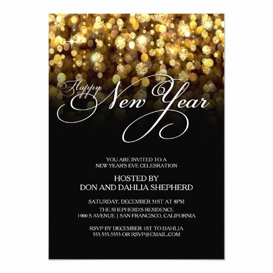 New Years Eve Invitation Templates Elegant Happy New Year S Eve Party Invitation