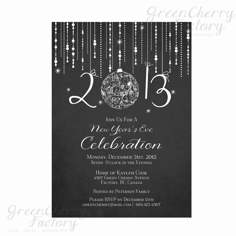 New Years Eve Invitation Templates Elegant Printable Chalkboard New Year Invitation Elegant New Year S Eve Invite Digital New Year