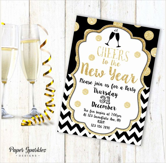 New Years Eve Invitation Templates Elegant Sample New Year Invitation Templates 24 Download Documents In Psd Pdf