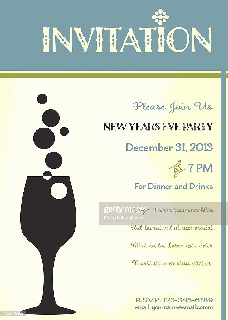 New Years Eve Invitation Templates Inspirational New Years Eve Party Invitation Template High Res Vector Graphic Getty