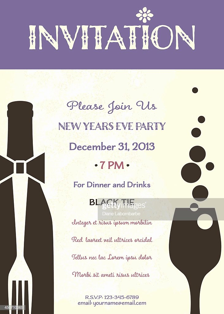 New Years Eve Invitation Templates Inspirational New Years Eve Party Invitation Template Stock Illustration Getty