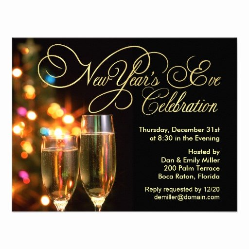 "New Years Eve Invitation Templates Lovely New Year S Eve Party Invitations 4 25"" X 5 5"" Invitation Card"