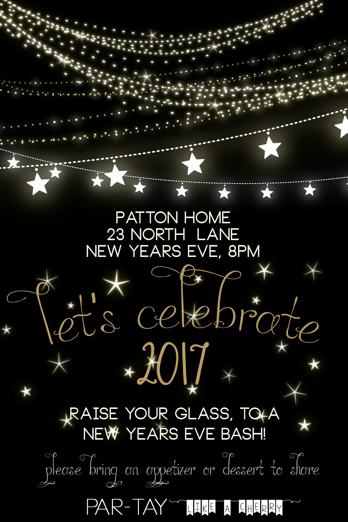 New Years Eve Invitation Templates Luxury Free New Years Party Invitation Party Like A Cherry