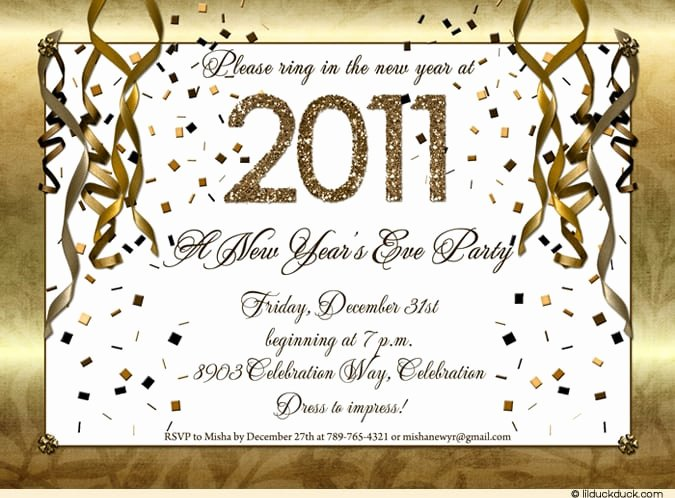 New Years Eve Invitation Templates New New Year Invitation Template