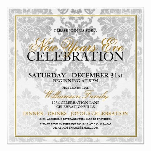 New Years Eve Invitation Templates New New Years Eve Party Invitation