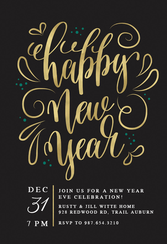 New Years Eve Invitation Templates New New Years Swirls New Year Invitation Template Free
