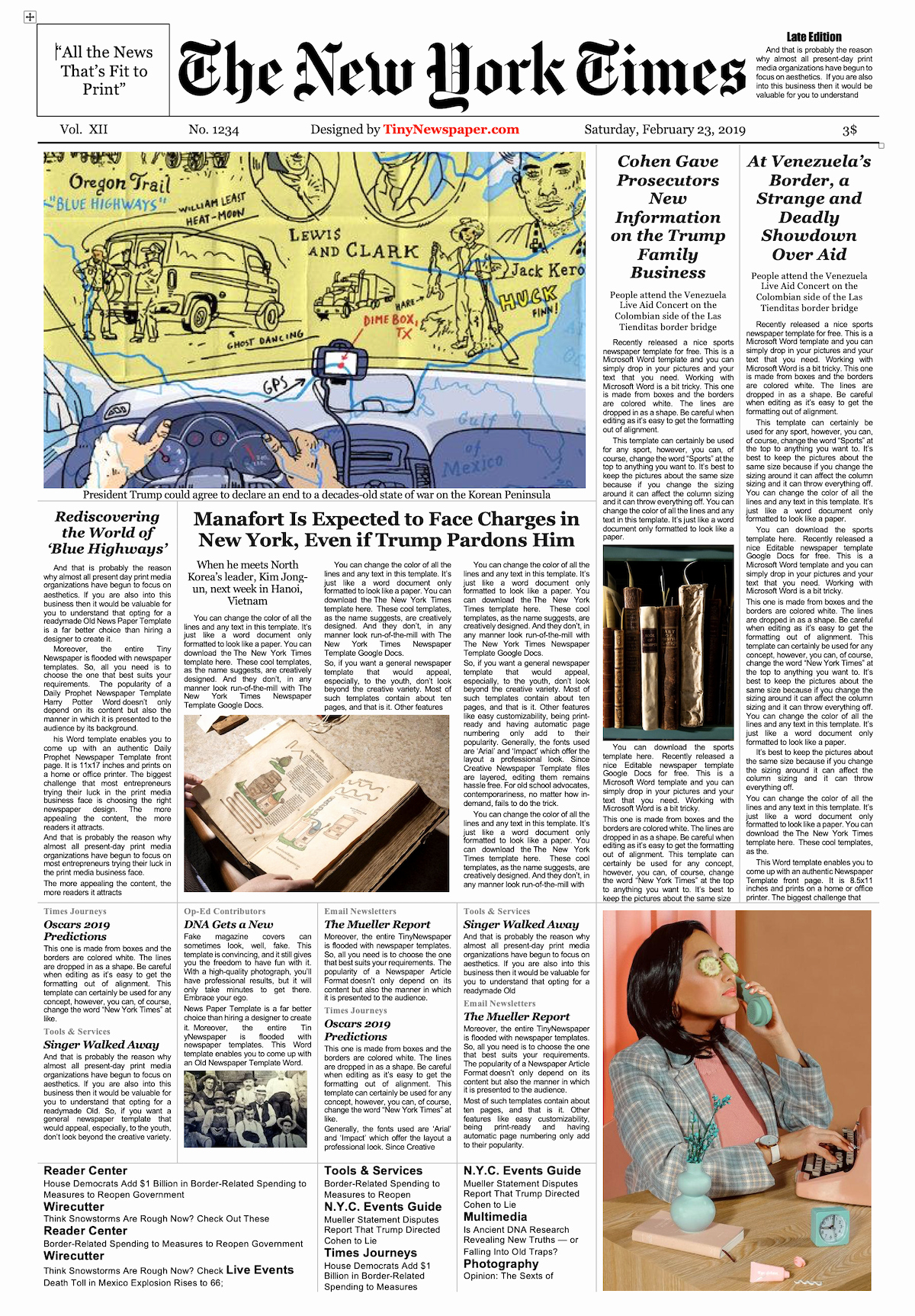 New York Times Newspaper Template Awesome Newspaper Template Google Docs