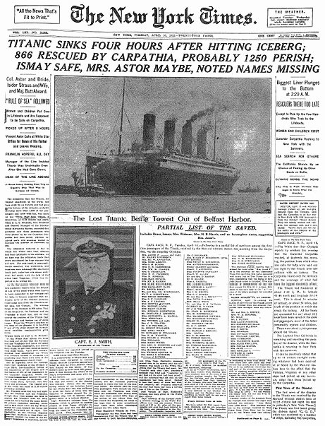 New York Times Newspaper Template Awesome some Real Of Titanic