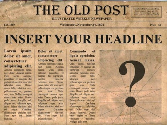 New York Times Newspaper Template Best Of 14 Old Newspaper Templates Free Sample Example format Download