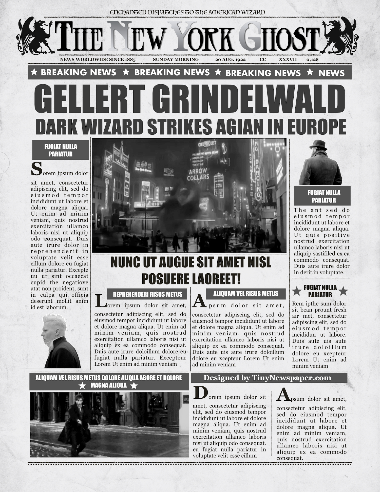 New York Times Newspaper Template Inspirational Daily Prophet Newspaper Template Harry Potter Word