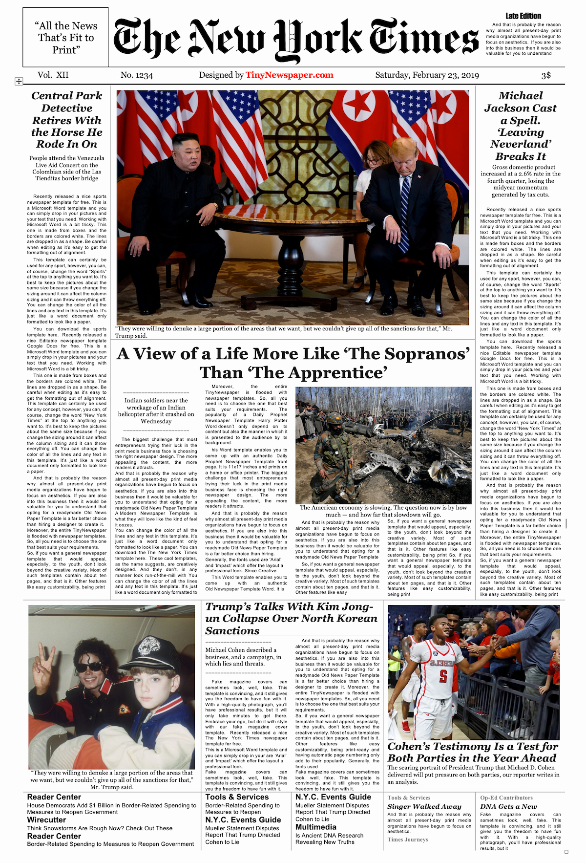 New York Times Newspaper Template Unique Newspaper Layout Template