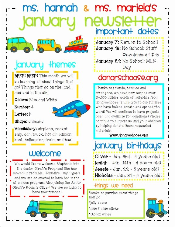 Newsletter Examples for Students Awesome Ideas for Municating with Parents