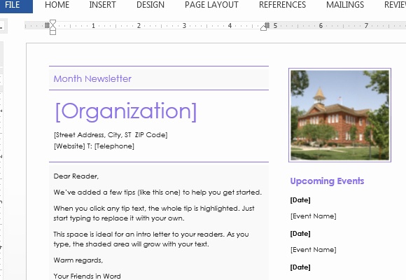 Newsletter Examples for Students Beautiful Elementary School Newsletter Template for Word