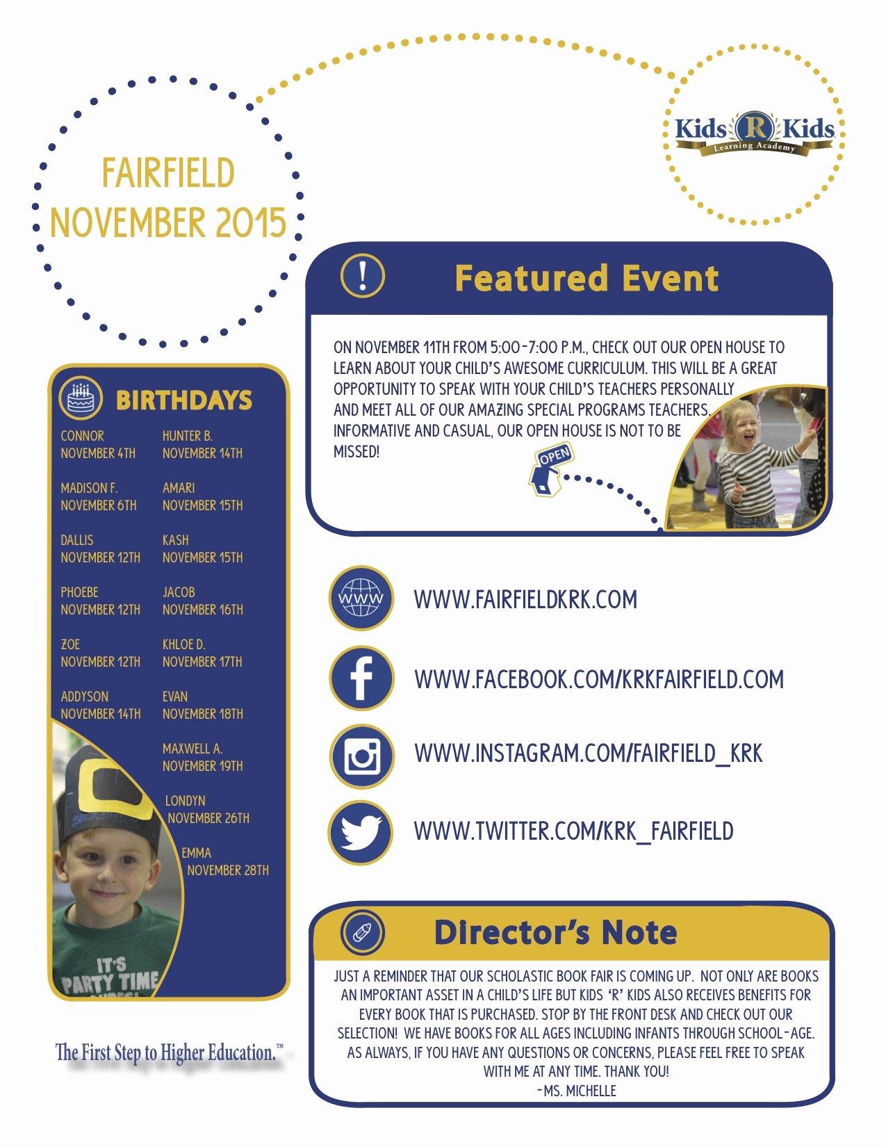 Newsletter Examples for Students Beautiful Sample Newsletter – Kids R Kids Greater Cincinnati
