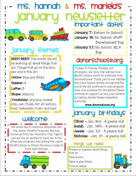 Newsletter Examples for Students Elegant Image Result for Kids Newsletter Template Free