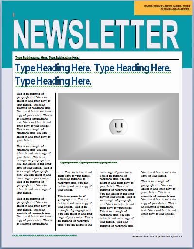 Newsletter Examples for Students Fresh Templates Glenkirk Elementary School