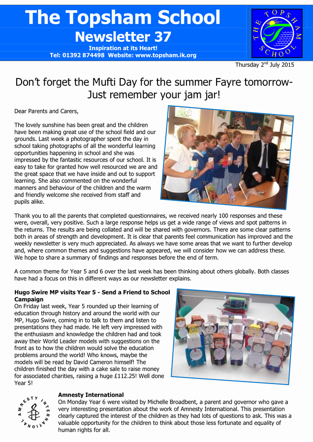 Newsletter Sample for School Awesome Sample School Newsletter In Word and Pdf formats
