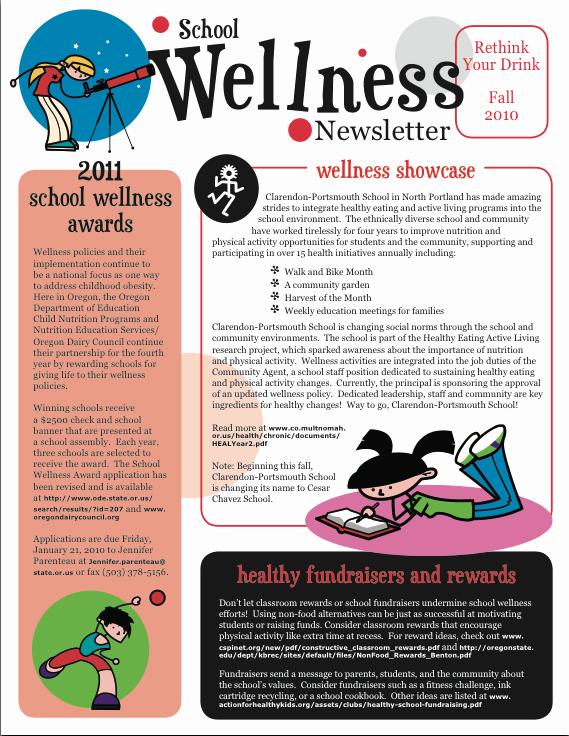 Newsletter Sample for School Beautiful School Wellness Newsletter Fa2010 Pta Meetings & Conferences Pinterest