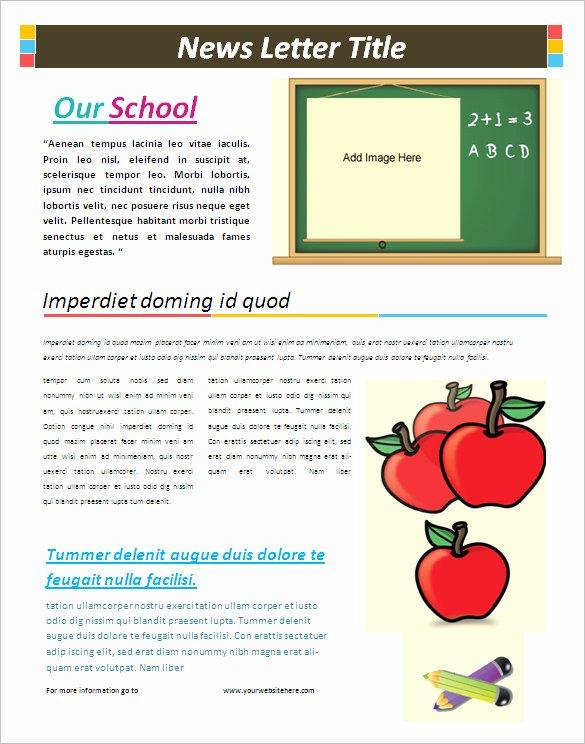 Newsletter Sample for School Inspirational Free Editable Newsletter Templates for Word – Emmamcintyrephotography