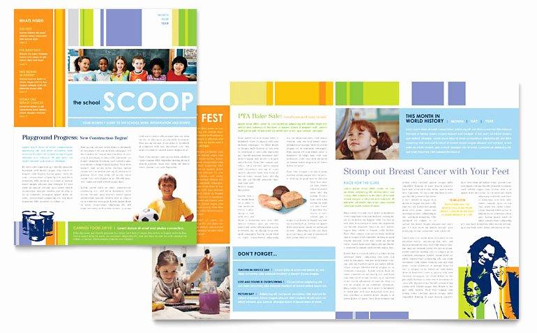 Newsletter Sample for School Lovely Learning Center & Elementary School Newsletter Template Word & Publisher