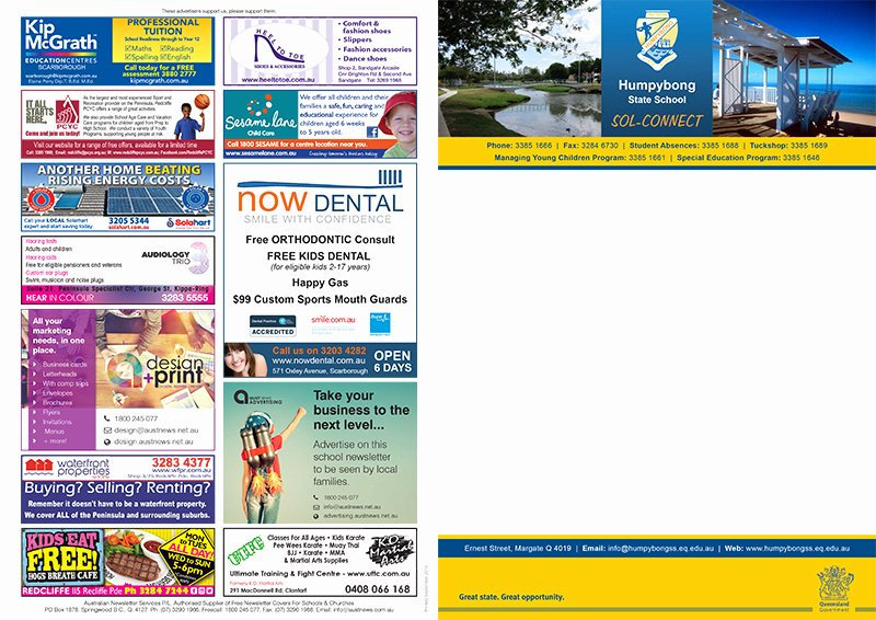 Newsletter Sample for School New School Newsletter Advertising – Advertise Effectively to School Parents & Families